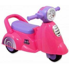 Музыкальная детская Каталка Мотоцикл 605 розовый