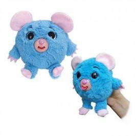 1toy Дразнюка-Zoo плюш.голуб.мышка,показ.язык,13см,пакет