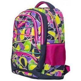Рюкзак ACTION городской, размер 46x32x15.5 см, с геометрическим принтом, мягкая спинка, д/девочек