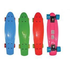 Скейт Navigator пласт.,кол.ПВХ 57х42мм без света, втулки ПВХ, пласт.траки, 56х15х9,5см, 4 цв. в ассо