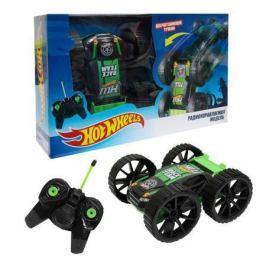 Hot Wheels трюковая машина-перевёртыш на р/у, 27MHz, вращение на 360°, со светом, с АКБ, чёрно-зелён