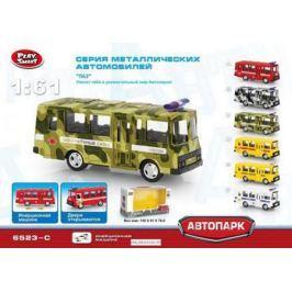 Play Smart 1:61 инерционный металлический автобус(военный) 15,5x6x7,65см