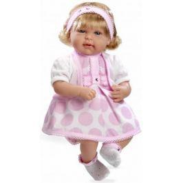 Arias ELEGANCE мягк кукла 45 см с кристалл.SWAROWSKI, в одежде роз., девочка, со звук. эфф.смех при