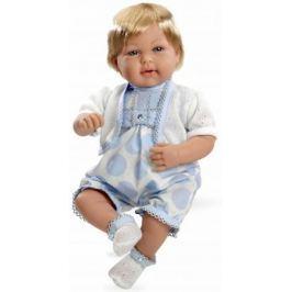 Arias ELEGANCE мягк кукла 45 см с кристалл.SWAROWSKI, в одежде голуб., мальчик, со звук. эфф. смех п