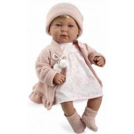 Arias ELEGANCE мягк кукла 45 см.,в одежед, роз., со звук. эфф. смех при нажатии на животик (3хLR44/A