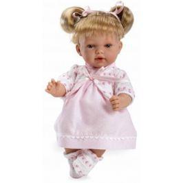 Arias ELEGANCE мягк кукла 28 см., со звук. эфф. смех при нажатии на животик (3хLR44/AG13), розовое п