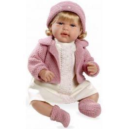 Arias ELEGANCE мягк кукла 45 см с кристалл.SWAROWSKI, в одежде роз., со звук. эфф. смех при нажатии