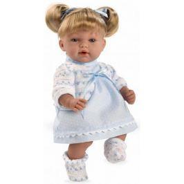 Arias ELEGANCE мягк кукла 28 см., со звук. эфф. смех при нажатии на животик (3хLR44/AG13), голубое п