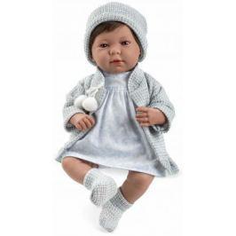 Arias ELEGANCE мягк кукла 45 см.,в одежед, голуб., со звук. эфф. смех при нажатии на животик (3хLR44