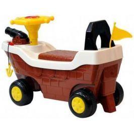 Музыкальная детская Каталка Кораблик 606 коричневый