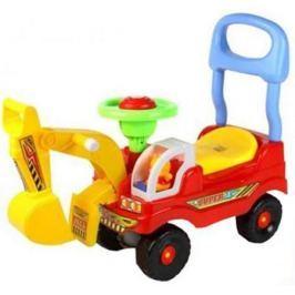 Музыкальная детская Каталка Машинка Экскаватор EC- 618 красный