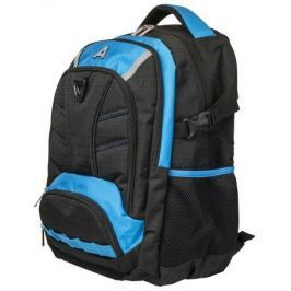 Рюкзак ACTION городской, разм.46x32x19 см, улушенная уплотненная спинка, черно-синий, унисекс