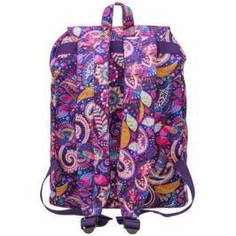 Рюкзак ACTION городской, размер 38х27х13 см, с принтом, мягкая уплотненная спинка, д/девочек,