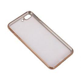 Силиконовый чехол с рамкой для iPhone 7 Plus DF iCase-09 (gold)