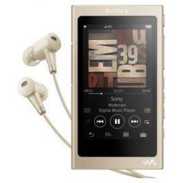 Плеер Sony NW-A45HN, Золотисто-бежевый, наушники в комплекте, 16 Гб, NFC/Bluetooth