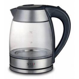 Чайник Sinbo SK 7379, 2200Вт, 1.7л, стекло, черный
