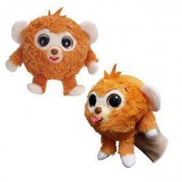 1toy Дразнюка-Zoo плюш.оранж.обезьянка,показ.язык,13см,пакет