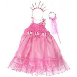Карнавальный костюм Новогодняя сказка Принцесса, платье 56 см, ободок, палочка