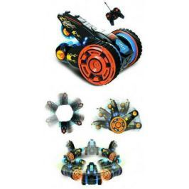 Hot Wheels трюковая трёхколёсная машина-перевёртыш на р/у, 27MHz, вращение на 360°, со светом, c АКБ