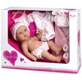 Arias ELEGANCE кукла винил. 33 см. с пинетками, одеяльцем, одеждой, роз. цвет в корбке 37x13,50x28,