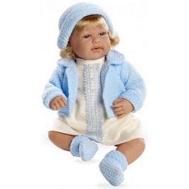 Arias ELEGANCE мягк кукла 45 см с кристалл.SWAROWSKI, в одежде голуб., со звук. эфф.смех при нажатии