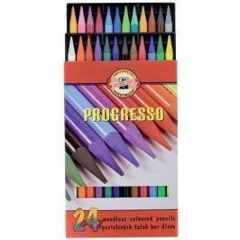 Набор карандашей цветных PROGRESSO, 24, цв., лаковый корпус без дерева