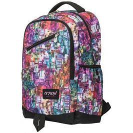 Рюкзак ACTION городской, размер 40.5x28x14,5 см, c принтом в стиле акварели, мягкая спинка, д/девоч