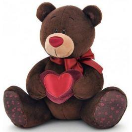 Мягкая игрушка медведь ORANGE Choco Milk с сердцем 20 см коричневый искусственный мех