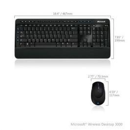 (MFC-00019) Клавиатура+мышь Microsoft Wireless Desktop 3000 USB BlueTrack Black Retail