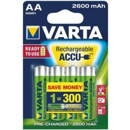 Аккумуляторы 2600 mAh Varta R2U AA 4 шт