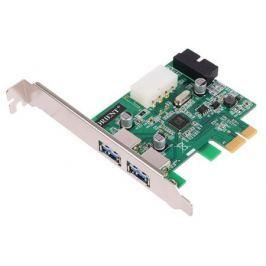 Контроллер ORIENT VA-3U2219PE, PCI-E USB 3.0 2ext/2int (19pin) port, VL805 chipset, разъем доп.питания, oem
