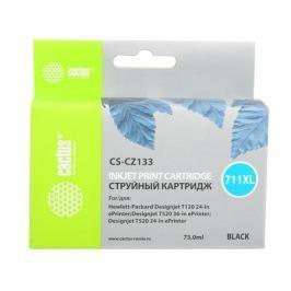 Картридж струйный Cactus CS-CZ133 №711 черный для HP DJ T120/T520 (73мл)