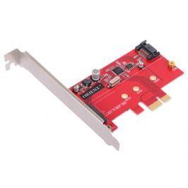 Контроллер ORIENT A1061S-M2, PCI-E v2.0 SATA 3.0 6 Gb/s, 2int port: M.2(NGFF)+SATA, поддержка HDD до 6TB, ASM1061 chipset, oem
