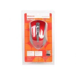 Беспроводная оптическая мышь Accura MM-965 красный,6кнопок,800-1600dpi DEFENDER