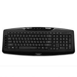 Беспроводная мультимедийная слим-клавиатура Jet.A SlimLine K17 W с классической раскладкой и 14 клавишами быстрого доступа, USB интерфейс, чёрная