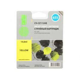 Картридж Cactus CS-CZ112AE №655 для HP DJ IA 3525/5525/4515/4525 желтый