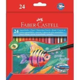 Карандаши акварельные Faber-Castell Colour Pencils 24 цвета кисточка 114425