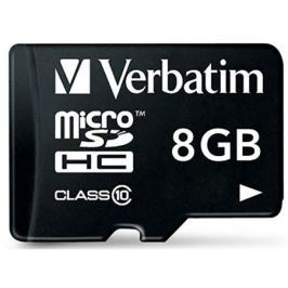 MicroSDHC Verbatim 8GB Class10 + Адаптер (44081)