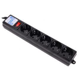 Сетевой фильтр Power Cube SPG-B10 5 розеток 3 м черный