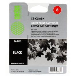 Картридж Cactus CS-CLI8BK для CANON PIXMA MP470/ MP500/ MP530/ MP600/ MP800/ MP810/ MP830/ MP970; MX850; iP4200/ iP4300/ iP5200/ iP5300/ iP6600D/ iP