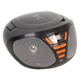 Аудиомагнитола BBK BX180U черный/оранжевый