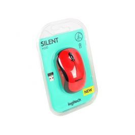 Мышь (910-004880) Logitech Wireless Mouse M220 SILENT Red