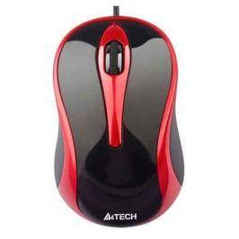Мышь A4-Tech N-350-2 USB (BLACK+RED)