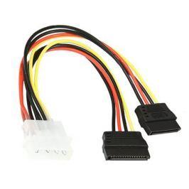 Кабель питания SATA Molex(4pin, БП) - 2xSATA (на 2 устройства) 15см,Gembird CC-SATA-PSY, пакет