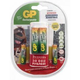 Зарядное устройство + аккумуляторы 1000 мАч GP GP U211100/40SEFR-2CR4 AA/AAA 4 шт