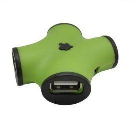 Концентратор USB 2.0 CBR CH-100 Green (4 порта)