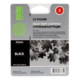 Картридж Cactus CS-PGI5BK для CANON PIXMA MP470/ MP500/ MP520/ MP530/ MP600/ MP800/ MP810/ MP830/ MP979; iP3500/ iP4200/ iP4300/ iP5200/ iP5300/ iP670