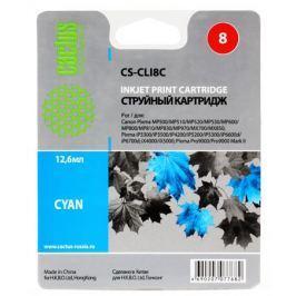 Картридж Cactus CS-CLI8C для CANON PIXMA MP470/ MP500/ MP510/ MP520/ MP530/ MP600/ MP800/ MP810/ MP830/ MP970; iP3300/ iP3500/ iP4200/ iP4300/ iP5200/