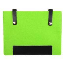Чехол IQ Format с кожаными вставками на кнопках зеленый с черным