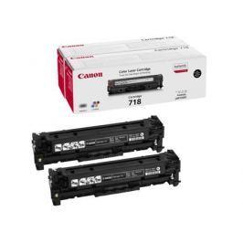 Картридж Canon 718 BK H для LBP-7200. Чёрный. 3400 страниц. Двойная упаковка.